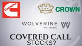 Are Cummins, Crown holdings, and Wolverine World Wide good stocks to sell covered calls on?
