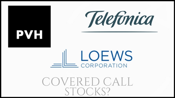 Are Telefonica, PVH Corp, and Loews good covered call stocks?