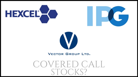 Are Vector Group, Interpublic Group of Companies, and Hexcel Corp good covered call stocks?