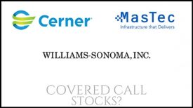 Are Cerner, Mastec, and Williams Sonoma good stocks to own for covered call income?