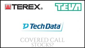 Are Terex, Teva Pharma, and Tech Data good stocks to own for covered calls?