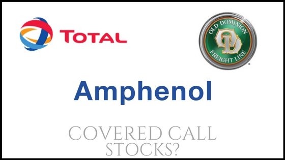 Are Old Dominion Freight Line, Total, and Amphenol good covered call stocks?