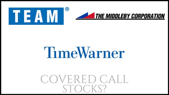 Are Team Inc, The Middleby Corporation, and Time Warner good stocks to own for covered calls?