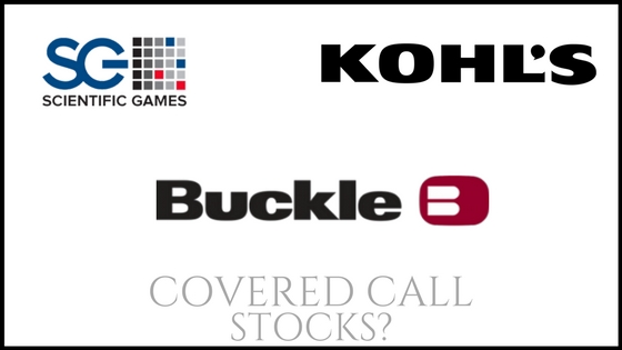 Are Scientific Games Corp, The Buckle, and Kohl's good covered call stocks?