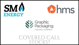 Are Graphic Packaging Holding, HMS Holdings corp, and SM Energy Company good stocks to own for covered calls?