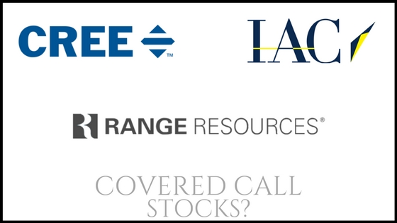 Are Range Resources, IAC Interactive, and Cree good covered call stocks?