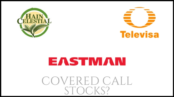 Are Eastman Chemical, Grupo Televisa, and Hain Celestial Group good stock picks for covered calls?