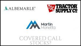 Are Martin Marietta Materials, Tractor Supply, & Albemarle