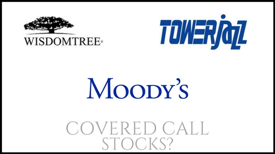Are Tower Semiconductor, Moody's, and WisdomTree Investments good stocks to own for covered calls?